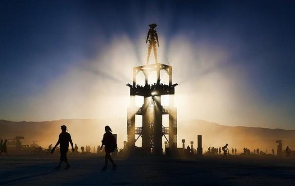 Burning Man in the Black Rock Desert, Nevada.