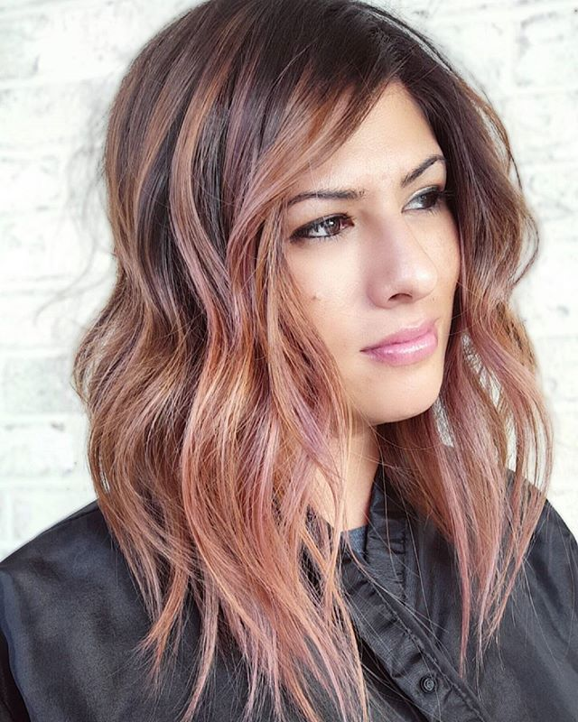 Best 19 Rose Gold Brown Hair Ideas On Pinterest Hair Color Hair