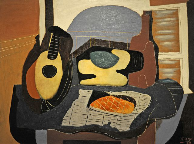 Pablo Picasso - Still Life with Mandolin and Galette [1924] | Flickr - Photo Sharing!