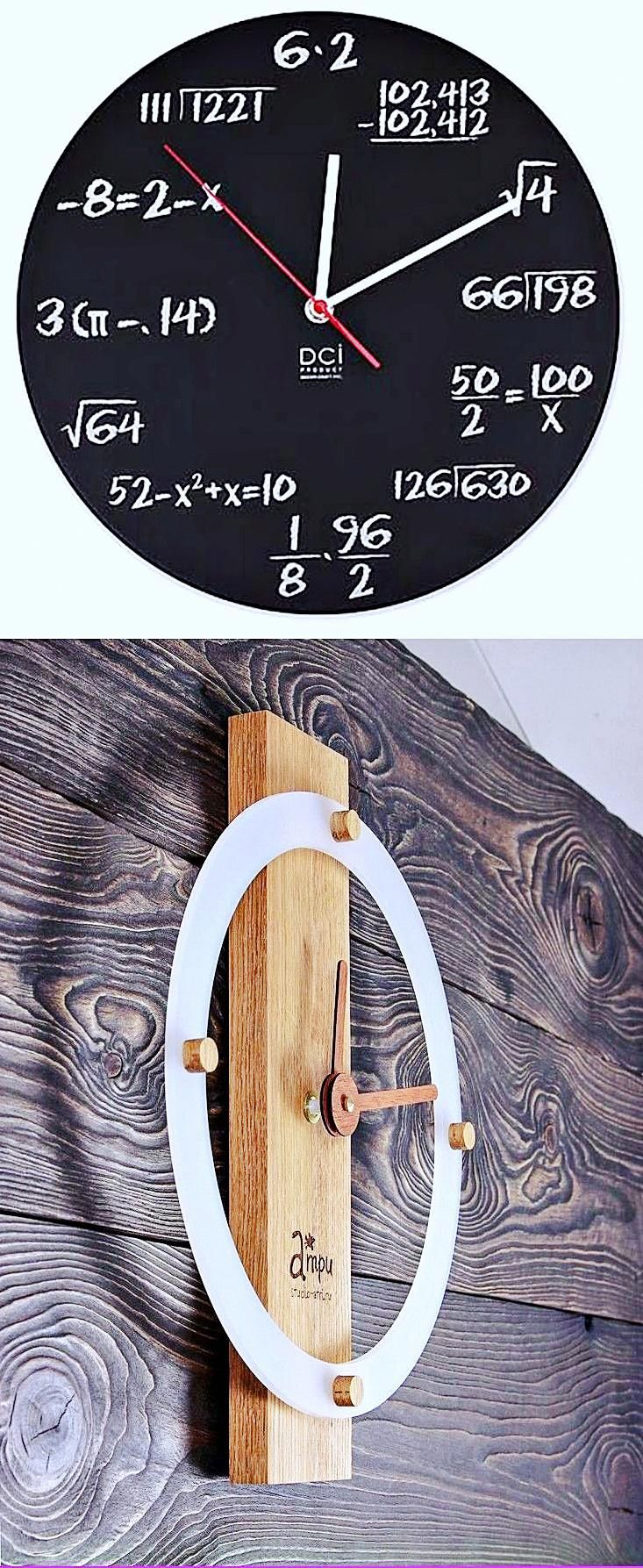 Large Rectangular Wall Clock Large Wooden Wall Clock Wall Clock Black Wall Clock Clock