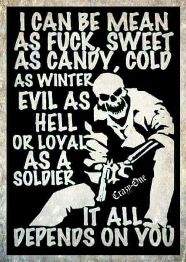 ~AneurisM #funnypictures #humor #memes Puedo ser malo como carajo, dulce como caramelo, frío como el invierno, malvado como el infierno o leal como soldado todo depende de ti...