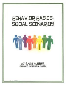 "This FREEBIE ""Social Scenarios"" is a packet of skill building activity cards designed to help students develop strategies for responding to others in an appropriate manner.  Appropriate for older middle and high school classes with special ed students, especially autism.  Download at:  https://www.teacherspayteachers.com/Product/Behavior-Basics-Social-Scenarios-275658"