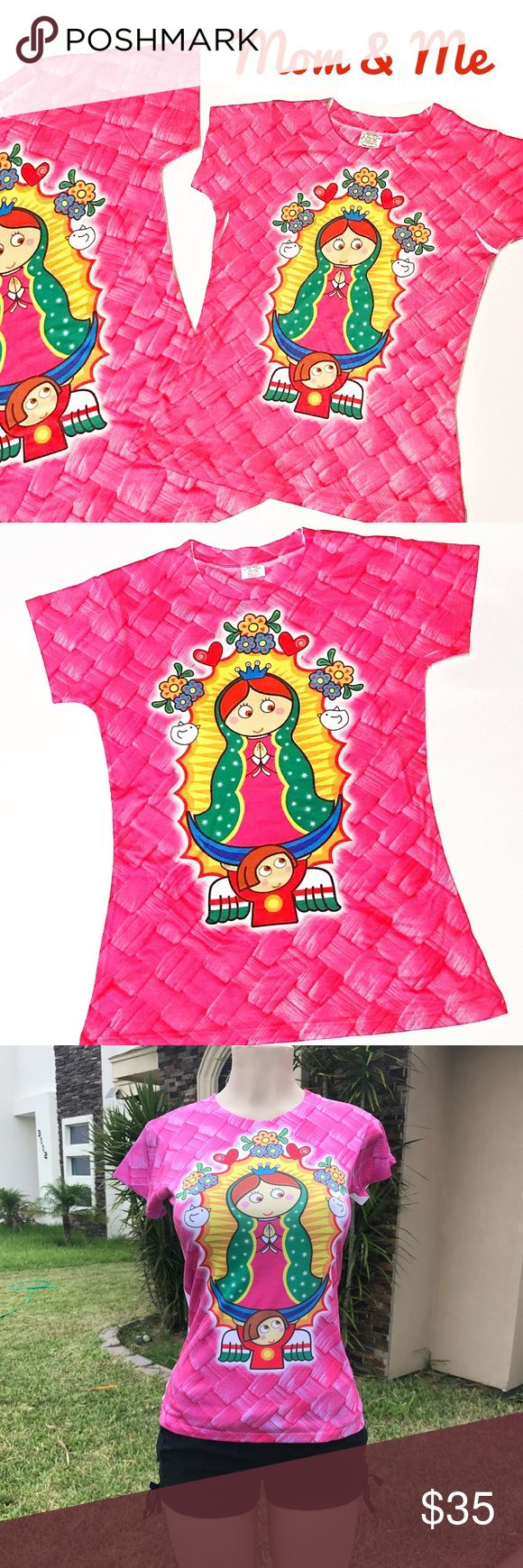 Mommy and Me Our Lady of Guadalupe 2pc Shirt Set New Cielito Lindo Shirts & Tops Tees - Short Sleeve
