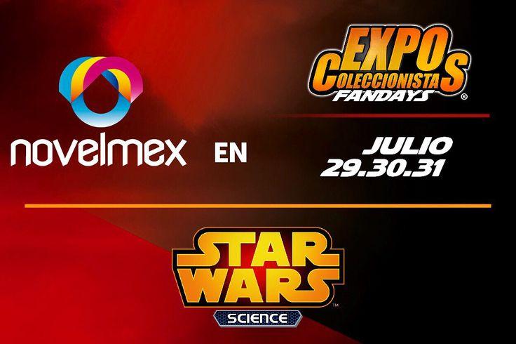 Estaremos en Expo Coleccionistas 2016 en Centro Banamex los días 29, 30 y 31 de Julio. Teniendo la temática de Star Wars y todos nuestros productos. Consigue tus boletos y déjate llevar por la experiencia novelty. #Novelmex #ExpoColeccionistas #Fandays2016 #CentroBanamex #FelizViernes #TGIF #BandaComicGodinezGeek #EstamosListos #RifaNVLMX