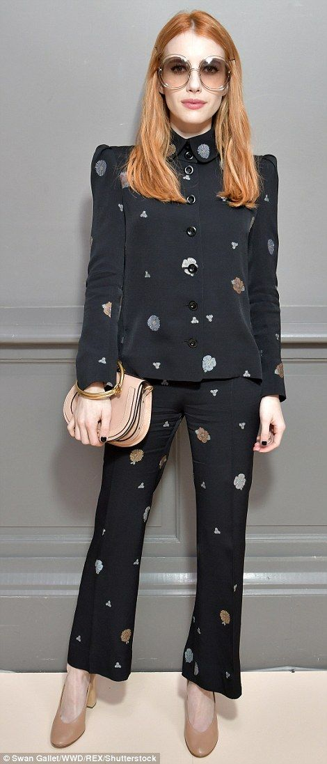 Show time! Emma Roberts attended Chloe's autumn/winter 2017 show during Paris Fashion Week on Thursday