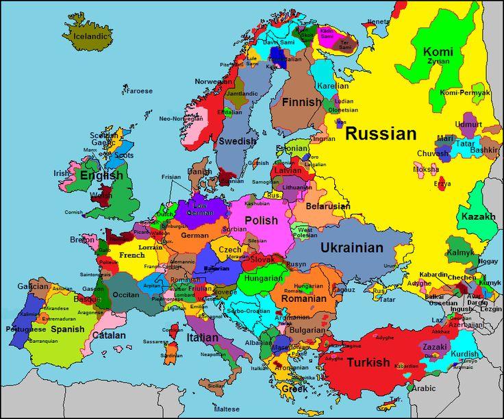 28 best european linguage maps images on pinterest cartography