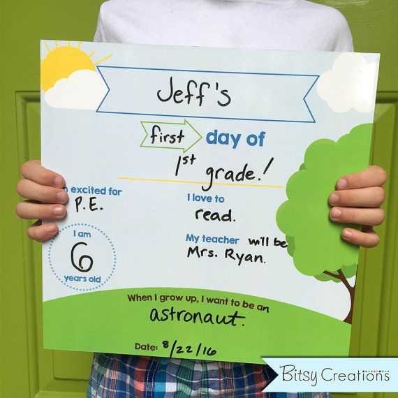 Dry Erase First Day of School Sign  Last Day of by BitsyCreations