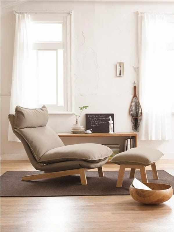 This Muji chair looks like a more comfy version of Ikea's Poang chair.