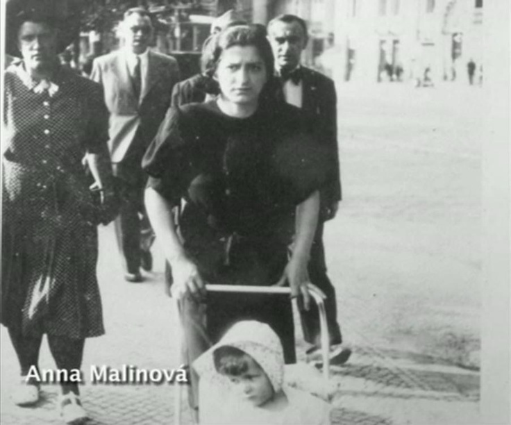 Anna Malinová with her daughter. Like her friend Marie Kovárníková, she helped the paratroopers. She was widow and was, allegedly, in relationship with Jozef Gabčík. Anna sheltered him at her home after the assassination till his shelter in the crypt. She was executed in Mauthausen. Photo from http://www.ceskatelevize.cz/porady/10350893065-heydrich-konecne-reseni
