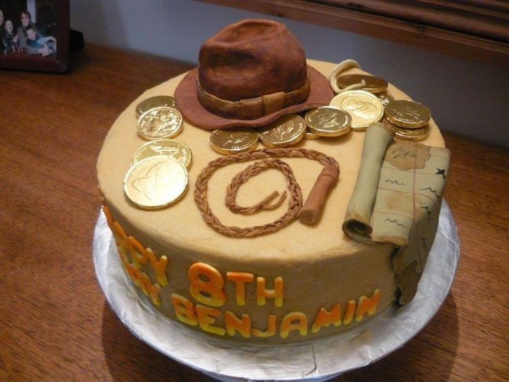 Also a cute Indiana Jones cake. Love all the little details.