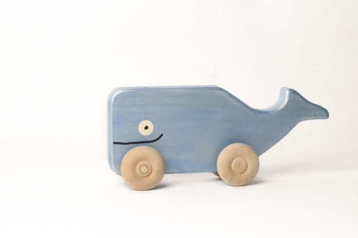 Whale Rollimal  a baby  toddler wooden toy animal by uswoodtoys, $14.00