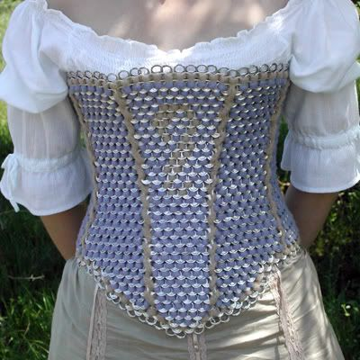 Can Tab Crafts | aweseome a soda can tab CORSET | Craft Ideas
