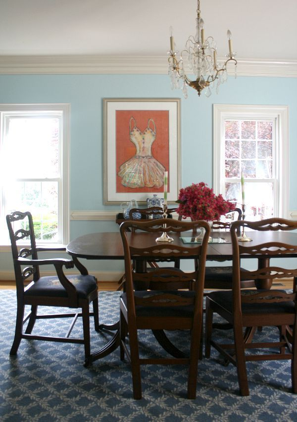 We Just Updated Our Dining Room Look And Painted Walls A Beautiful Pale Blue Pristine Skies
