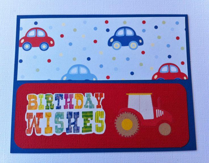 Handmade Birthday Card - Boy Card - Transport Theme - Cars - Handmade by HandmadeByLana on Etsy