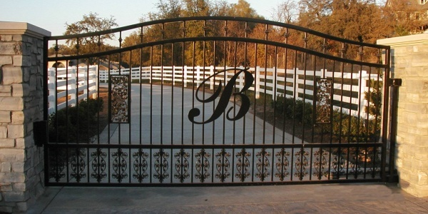 entry gate only with a J