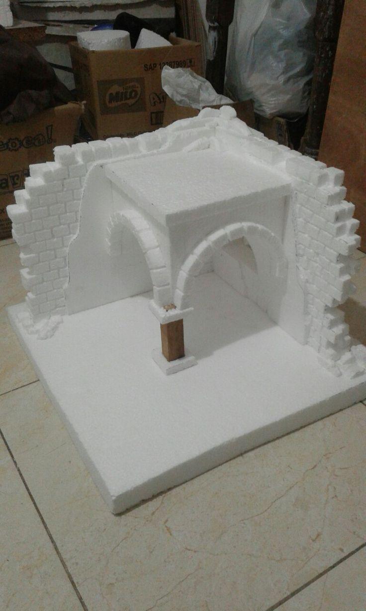 Casa de anime Pesebre #Navidad #Nativity #Miniatures #Minatures #Christmas