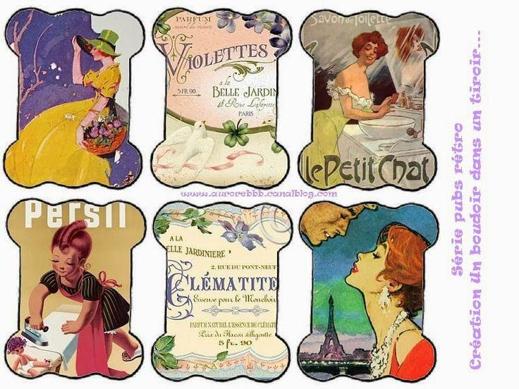 """Милые сердцу штучки: Декупажные карты: """"Бобины для мулине. Прекрасные дамы"""""""