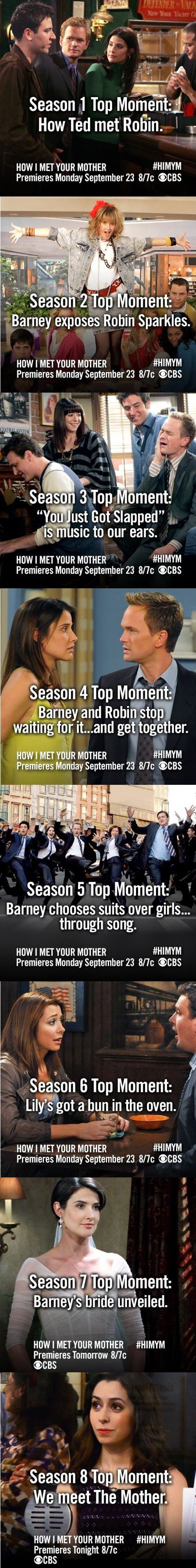 Favorite moments from all 8 seasons. HIMYM. How I Met Your Mother #himym