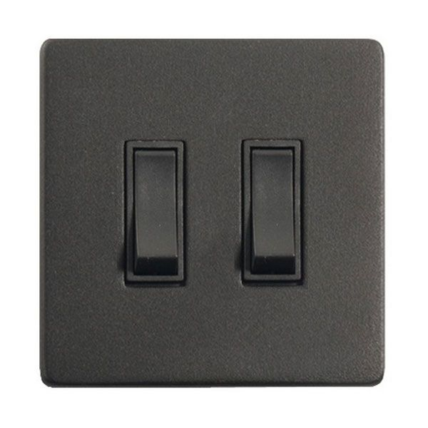 Buy this Heritage Brass 2 Gang 2 Way 20A Rocker Grid Switch in Matt Black Screwless Plate Black Insert Mode Black YBK.510.BK online from Sparks Direct at our low price of £37.92. Archway, London UK.