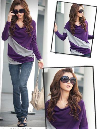 Womens-Batwing-Long-sleeved-Top-T-Shirt-3-Colours-Size-M-L-XL-XXL-XXXL-8-18