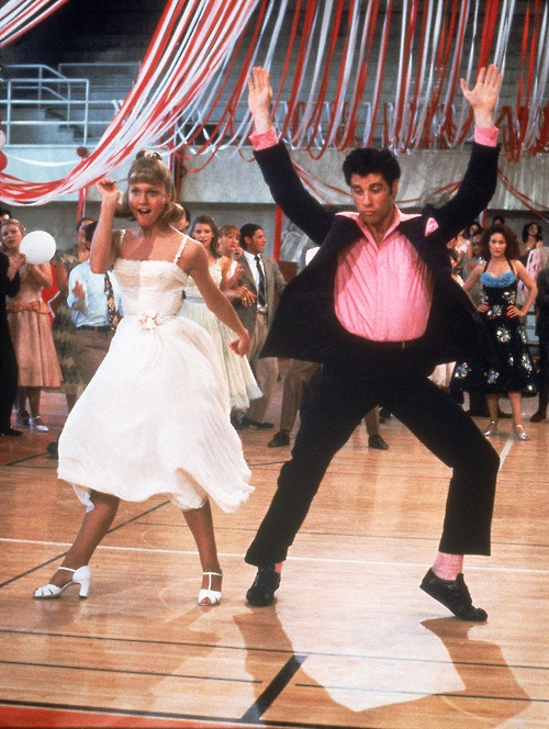 John Joseph Travolta & Olivia Newton-John in Grease
