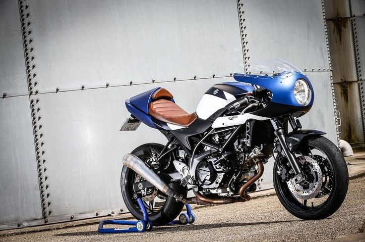 Suzuki SV650 Cafe Racer by Kikishop - Photo by Suzuki France #motorcycles #caferacer #motos | caferacerpasion.com