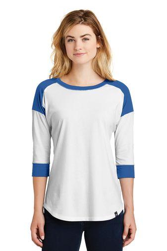 New Era® Ladies Heritage Blend 3/4-Sleeve Baseball Raglan Tee (LNEA104)