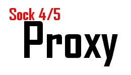 sock 4/5 proxy list