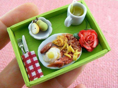 Il cibo in miniatura di Aaron Shay | Colazione all'inglese