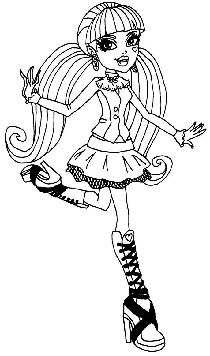 Monster high coloring pages of draculaura ~ Draculaura Monster High Coloring Page | Monster high doll ...