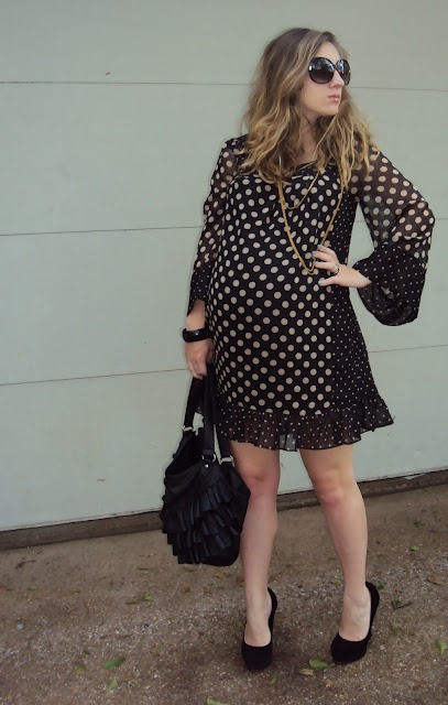 Cute Polka Dotted Maternity Dress too cute wish I had this when I was prego