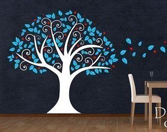 Mariposa etiqueta de la pared del árbol tatuajes por DecorDesigns
