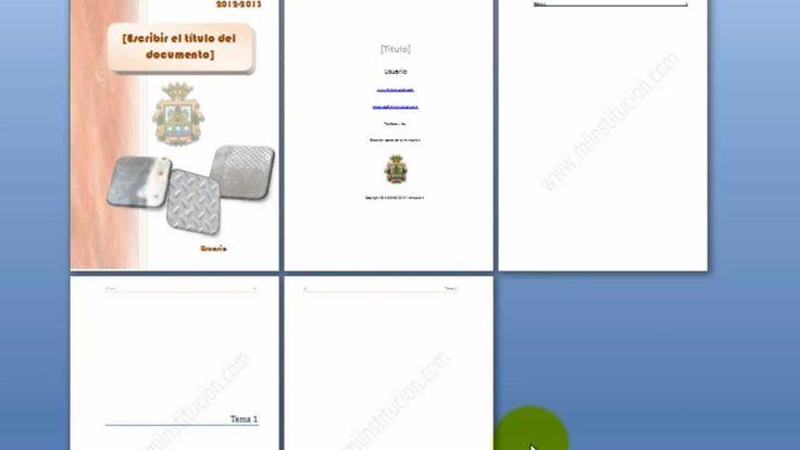 4.- Índice (tabla de contenidos), marcas de agua y macros en una plantil...