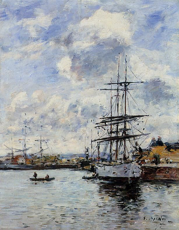 Deauville the Basin 1897 | Eugene Louis Boudin | Oil Painting