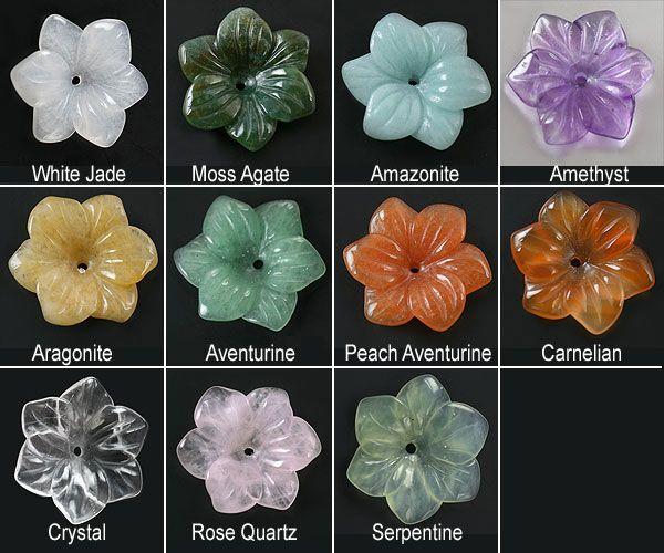 SmartyHands.com: Amazonite Flower carving #5-B2 / 1pc