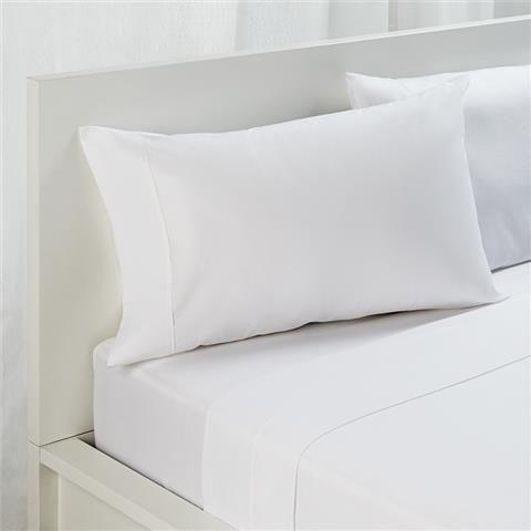 $19 White 180 Thread Count Sheet Set - King Single   Kmart