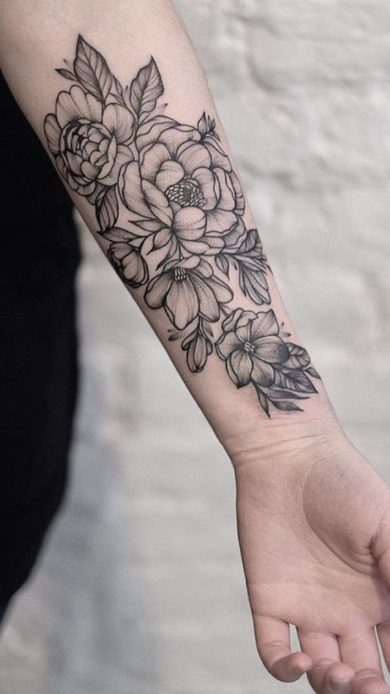… Tattoo on Pinterest | Tattoo ideas flower Floral arm tattoo and