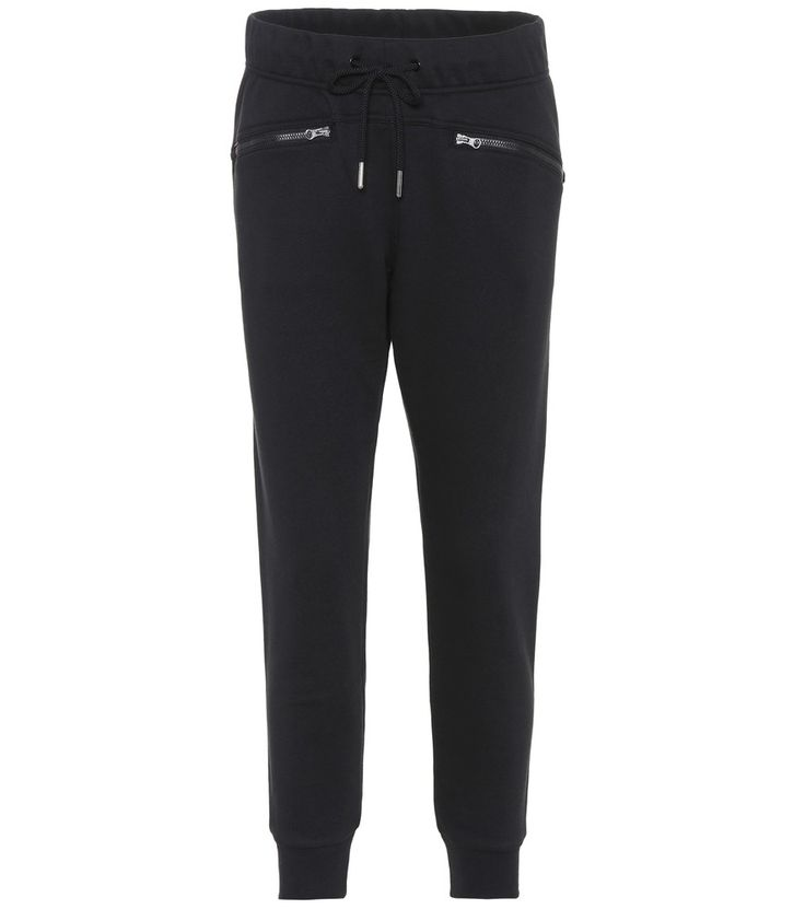 Adidas by Stella McCartney - Essentials cotton-blend trackpants - From the Essentials collection, these trackpants from adidas by Stella McCartney can transition from athleisure to activewear. This style features a tapered leg that is abbreviated at the ankle. The contemporary fit is complemented by exposed zip pockets at the hips. We can't wait to incorporate these into our wardrobe rotation. seen @ www.mytheresa.com