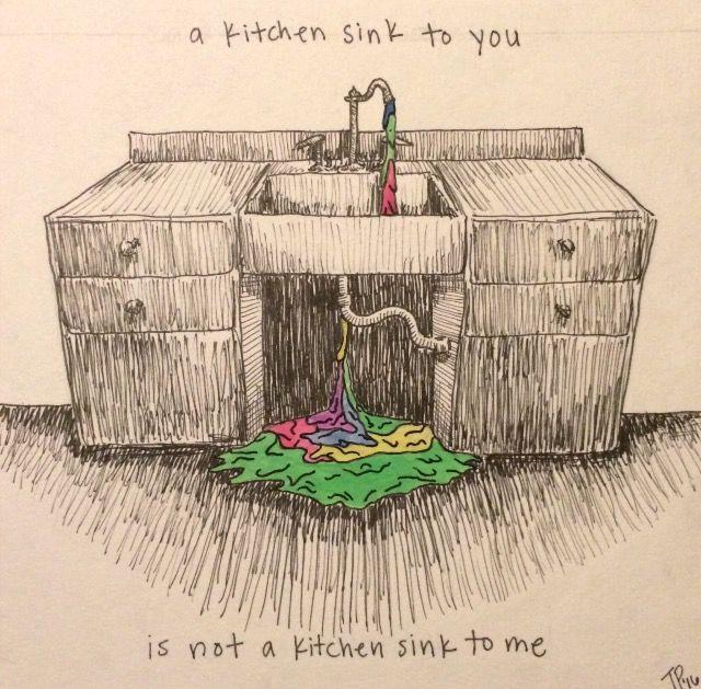Twenty one pilots self titled fan art kitchen sink - Kitchen sink saying ...