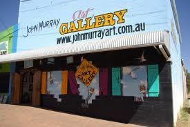 Famous outback artist John Murray's art gallery lightening ridge