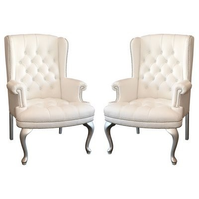 Tufted Wing Back Chairs