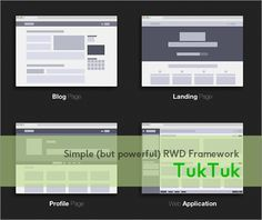 シンプルで使いやすい!レスポンシブ対応のさまざまなページを実装できる超軽量フレームワーク -TukTuk