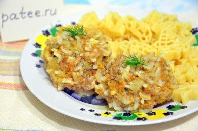 Мясные ежики с исом и морковью )))))