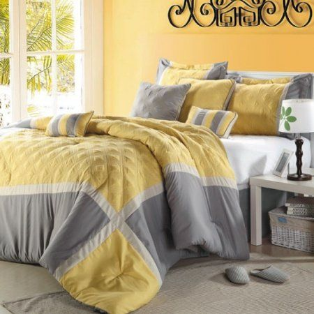 OVERSIZED AND OVERFILLED. This 8-piece lavish comforter set comes w...