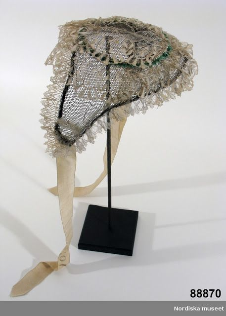 Lace cap, ca. 1860 | In the Swan's Shadow