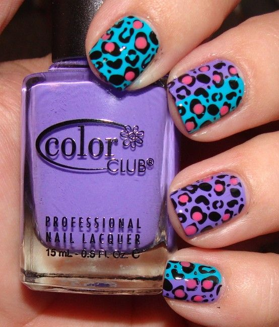 fierce ;)Cheetahs Nails, Colors Club, Animal Prints, Leopards Nails, Nails Art Design, Leopard Prints, Bright Colors, Cheetahs Prints, Leopards Prints Nails