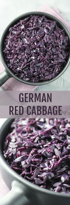 This braised German Red Cabbage is very easy to make. Serve it as a side dish with meat, fish, fried or poached eggs, or as a part of your veggie-grain bowl.
