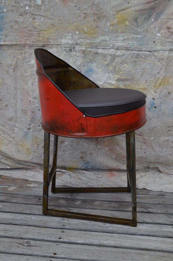 Industrial Furniture Barrel Bar Stool. Choose by WhitesIndustrial