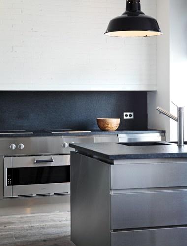 Studio Ko Minimal Kitchen Grey White And Ardoise
