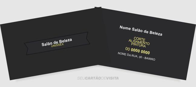 Cartão de visita salão de beleza grátis para download